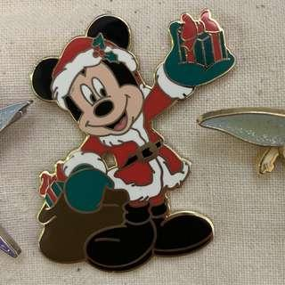 迪士尼襟章 disney pin mickey mouse christmas