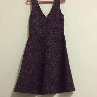 Used Forever 21 Purple Floral Dress