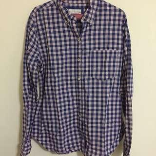 Slightly Used Forever 21 Checkered Long sleeved Polo