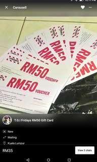 TGI Fridays RM50 gift card