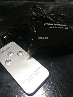 HDMI Switcher 1開3插頭 4K x 2K
