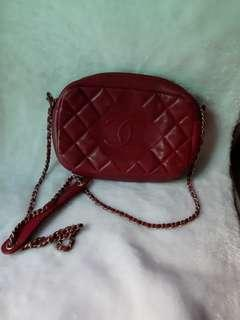 Used chanel quilted soft leather lambskin bag