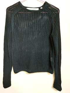 🚚 正貨時尚UNIQLO*LEMAIRE 黑色純棉粗針織上衣