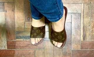 LV Canvas Slippers