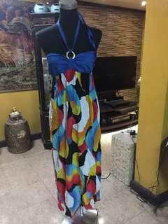 Brandnew maxi dress with nice prints from Singapore