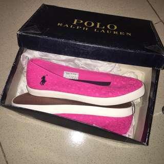 Original & Brand New Ralph Lauren Sandy Ballet Pink Lace Shoes Size US 7.5