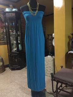 nice blue maxi dress /beach wear/streetwear/home