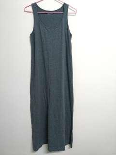 🚚 正貨Lativ  灰色純棉連身背心洋裝