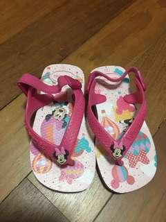 Havaianas Sandals baby size 21 Minnie Mouse