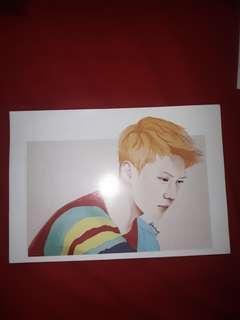 Sehun exo illustration card