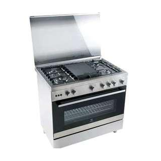 Kompor Free Standing Gas Cooker Electrolux EKG9688X