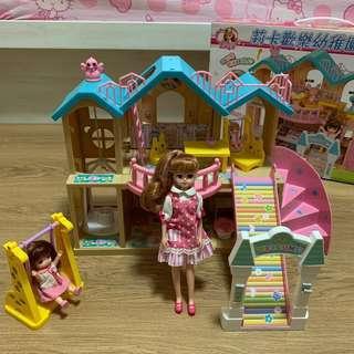 🚚 日本正版Takara Tomy Licca莉卡歡樂幼稚園豪華組 附莉卡娃娃兩隻配件 *限郵寄或面交