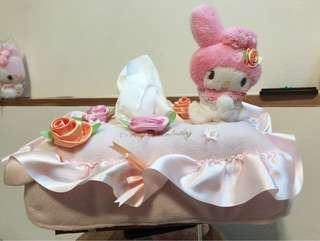 my melody tissue box cover