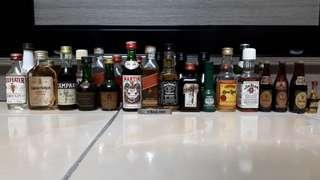 Various classic collectibles Liquor/ Coke Miniature (Vintage)