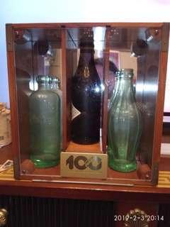 可口可樂 一百周年紀念樽 連木箱 $2500