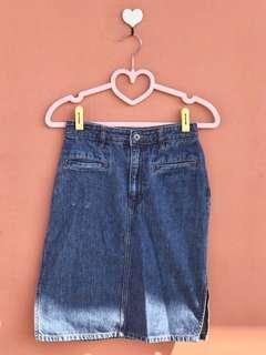 Knee-Length Denim Skirt