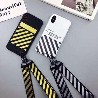 IPHONE CASINGS: OFF-WHITE BRAND WITH LANYARD