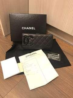 🚚 Chanel康朋長夾 保證真品付保卡