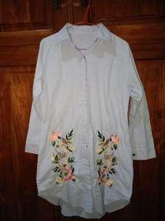 Baju Tunik / Kemeja Bordir Panjang Murah