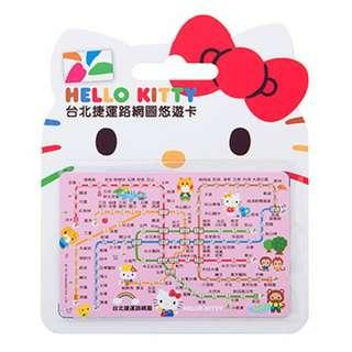 🚚 Hello Kitty 臺北捷運路網圖悠遊卡