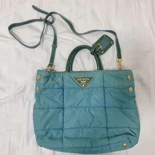 dbc758b37b Authentic Prada nylon patent leather bag