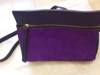 90% new purple handbag 紫色時尚手袋 ~~~