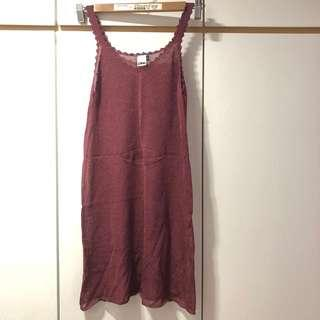 OPA 棗紅色底裙 Dress