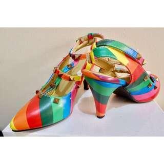 Icon Ninety9 Valentinos Heels Shoes Wanita
