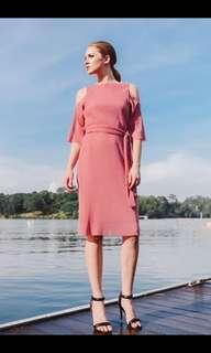 Ohvola Premium Bisou Cold Shoulder Dress