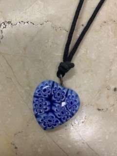 Murano millefiori Heart Necklace