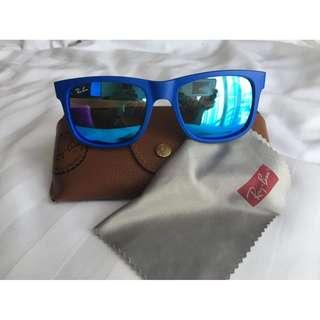 Ray-Ban Authentic RB 4165 Justin 6088 55 Blue Mirror Sunglasses