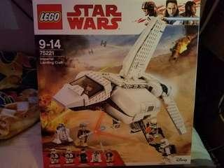 全新原裝行貨 lego Star Wars 75221 imperial landing craft