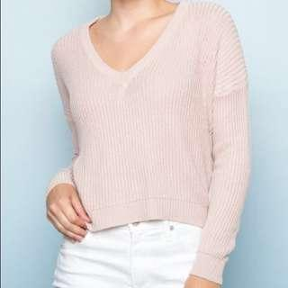 brandy melville pastel pink sweater