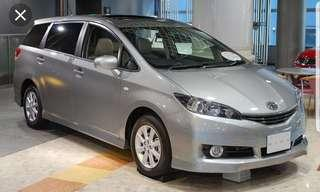 2016 toyota wish for rent!