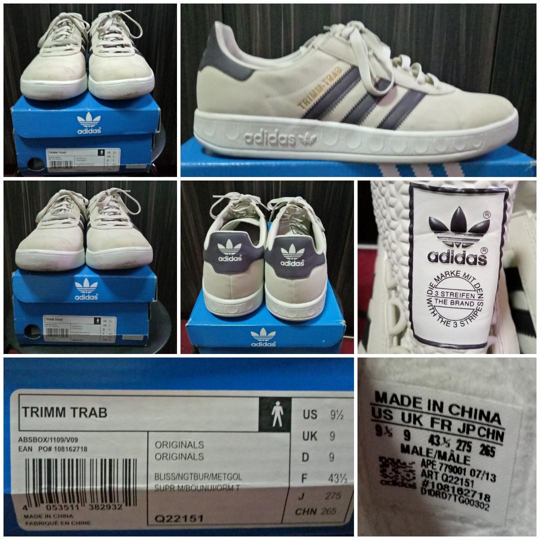 super popular f678e 90fd6 Adidas Originals TRIMM TRAB Size UK9, Men s Fashion, Footwear, Sneakers on  Carousell
