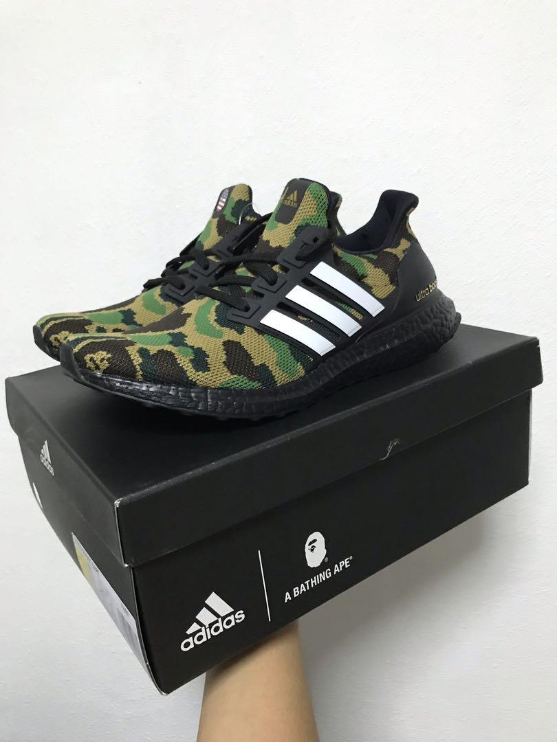 1ebeaa237ac BAPE x adidas UltraBoost Green