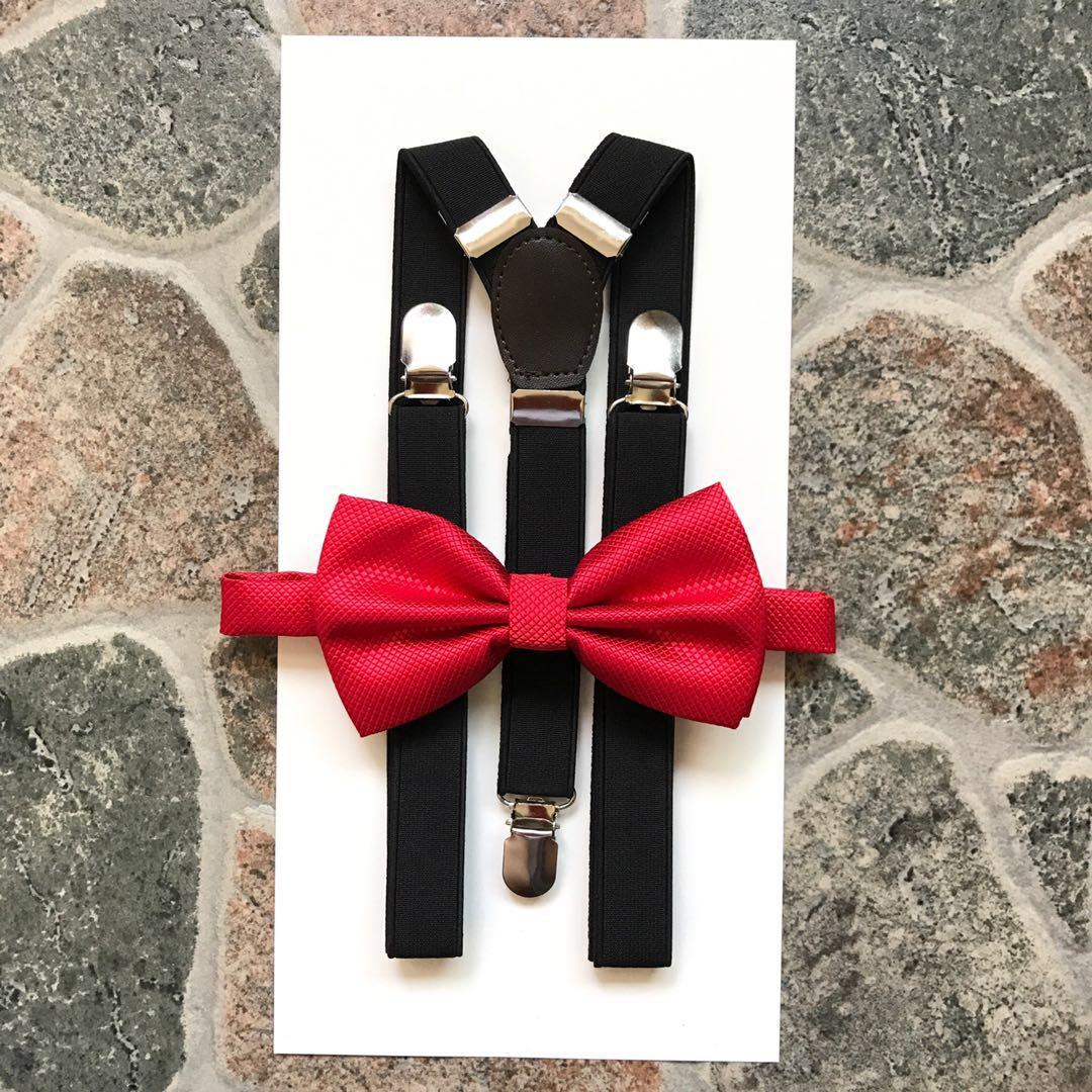 Black Suspender and Red Bowtie Set #MakeSpaceForLove
