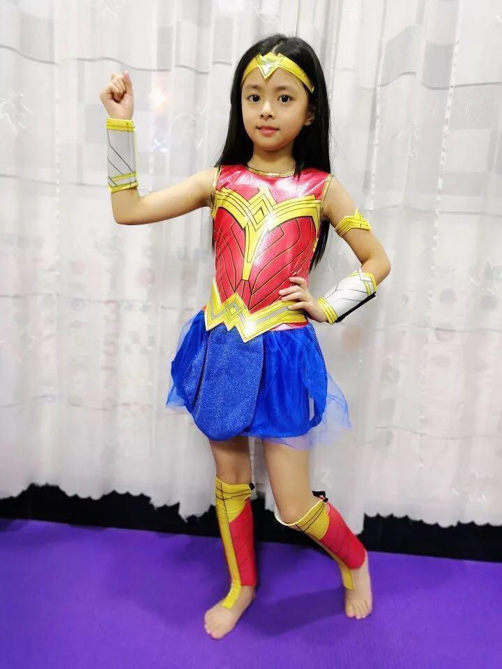 Bnib Wonder Woman Halloween Girl Costume Kids Party Cosplay Babies