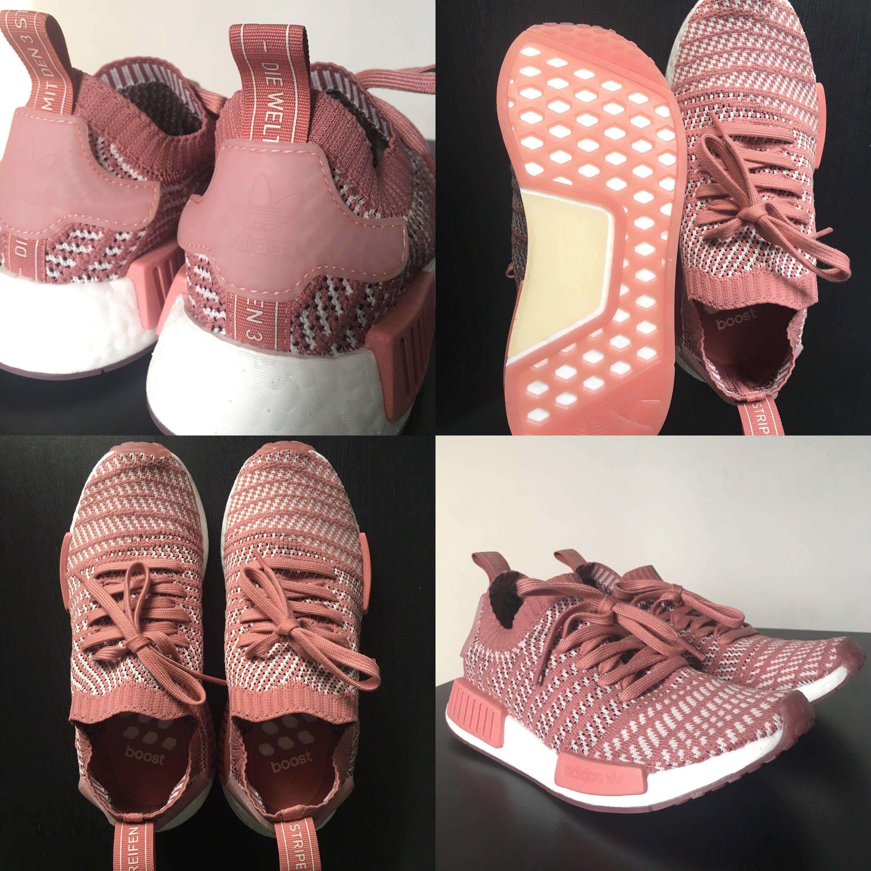 4723f6253 BRAND NEW! Adidas NMD R1 STLT Primeknit — Ash pink white (HARGA ASLI ...