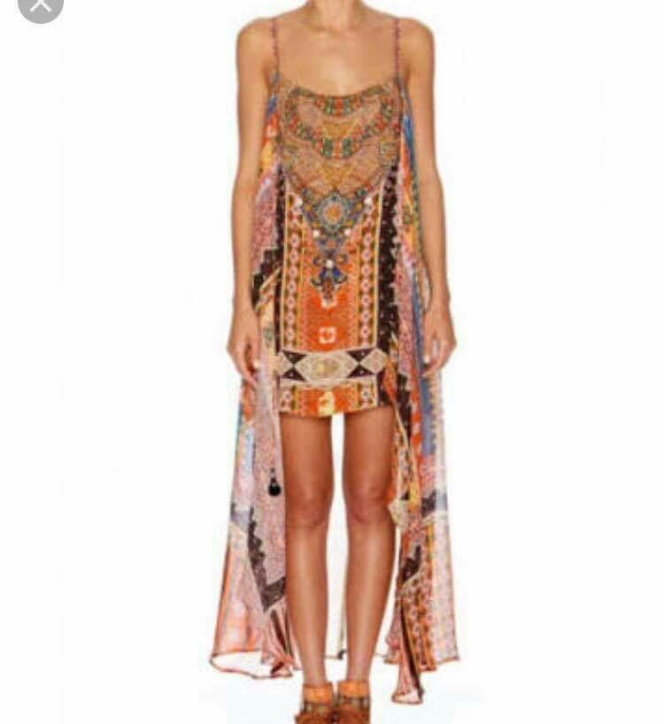 Camilla-Child of the Tribe Mini dress with Long Overlay