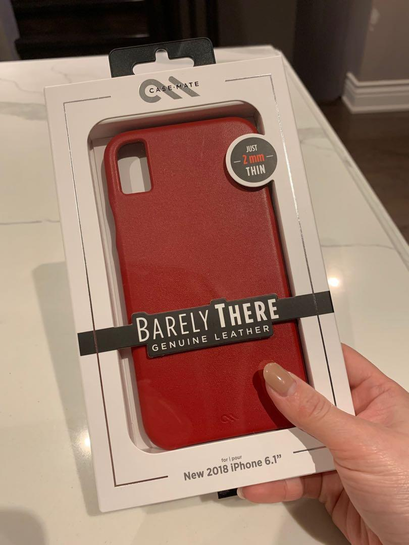 case-mate barely there iPhone XR genuine leather case