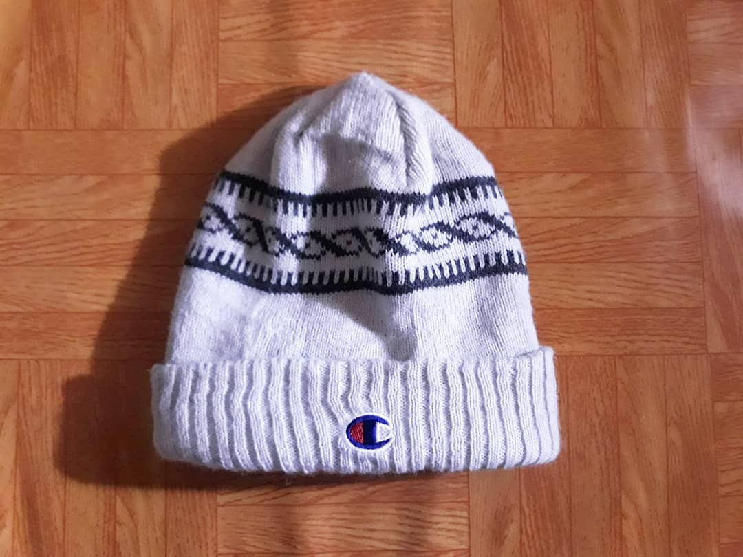 Retro Champion Beanie Hat Grey BNWT