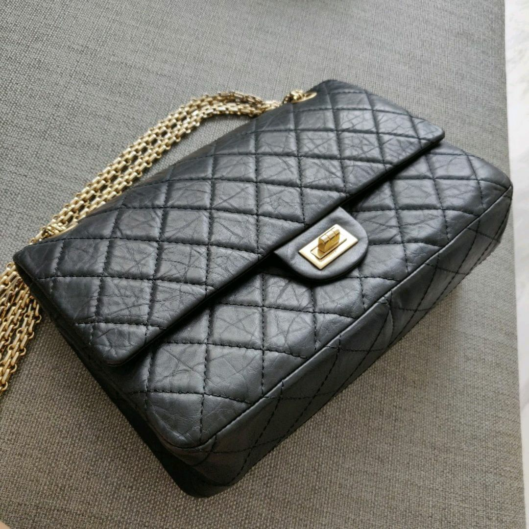 8cc82b6127f16a Chanel 2.55 Medium with Gold Hardware, Luxury, Bags & Wallets ...