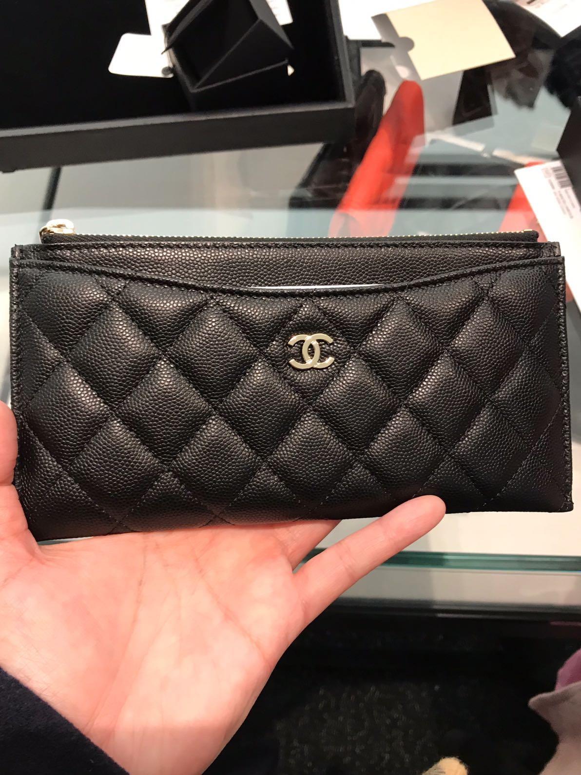 829e79c60231 Chanel flat wallet in caviar, Luxury, Bags & Wallets, Wallets on ...