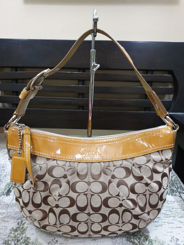 c1bb64111e8 Coach Soho Pleated Signature Canvas Hobo Bag, Luxury, Bags & Wallets ...
