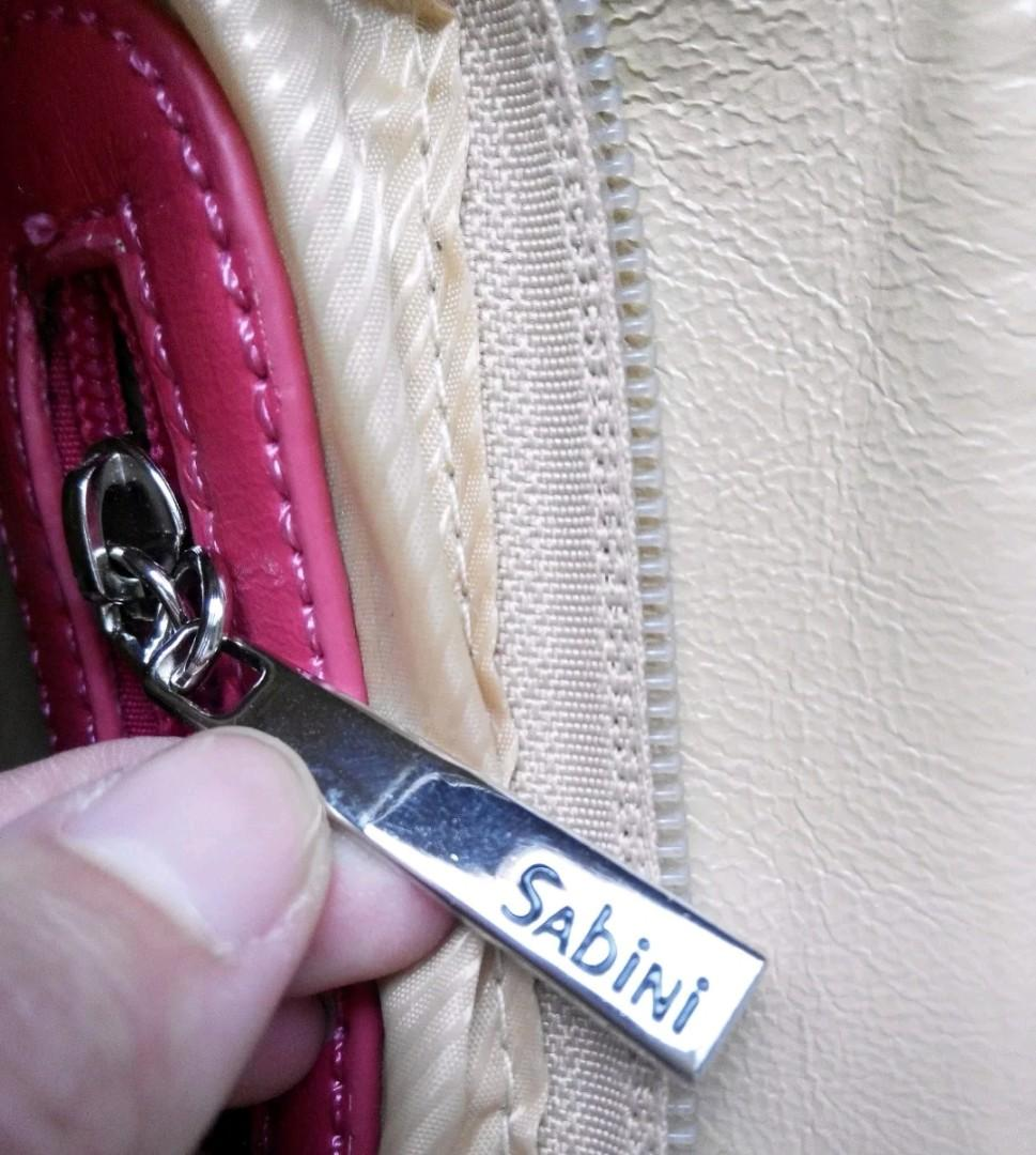 Cream Beige CONTRAST Pink Orange CHAIN Should Bag Handbag Zips