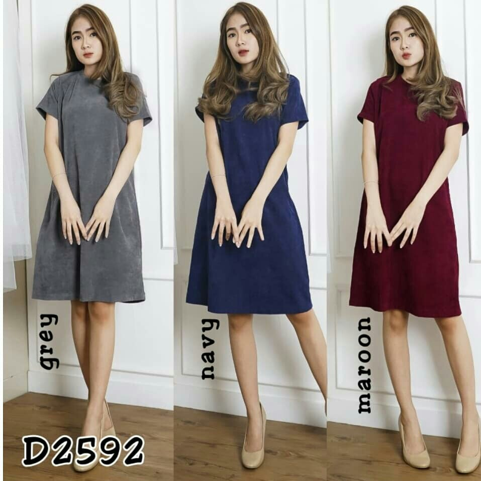 D2592 Midi Dress Polos Dress Codoray Casual Dress Korea Dress Casual