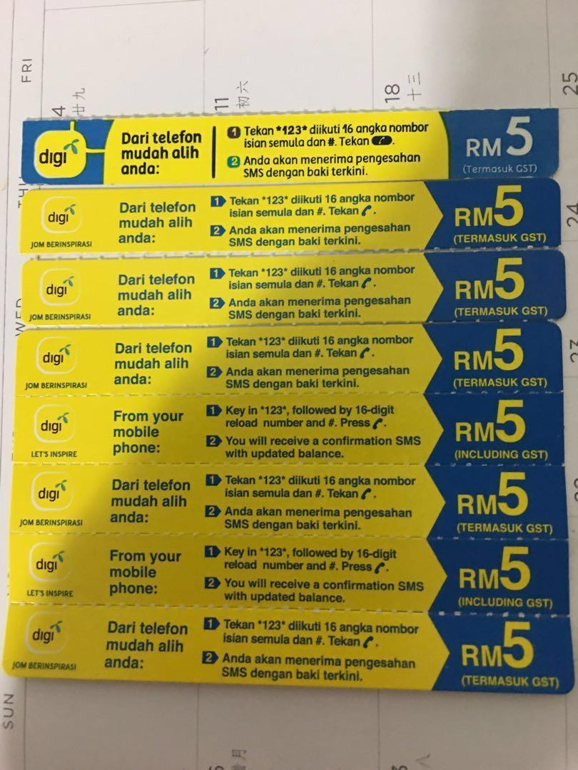 Digi Top Up code, Mobile Phones & Tablets, Others on Carousell