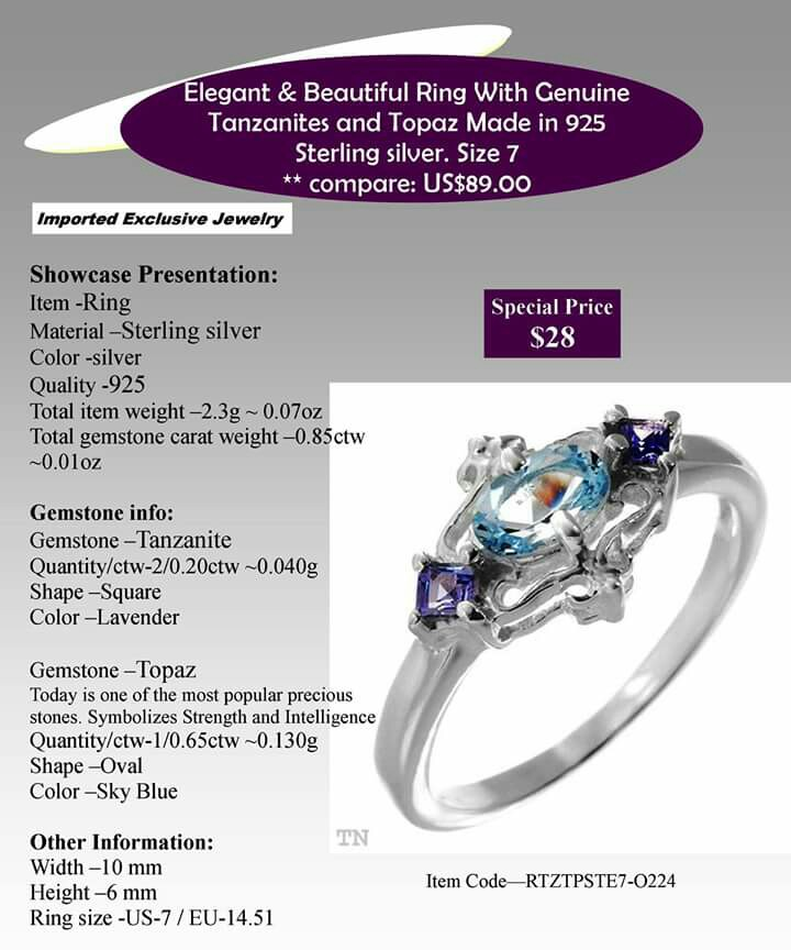 Price Lowered! (EIJ) Elegant 925 Sterling Silver Ring Made