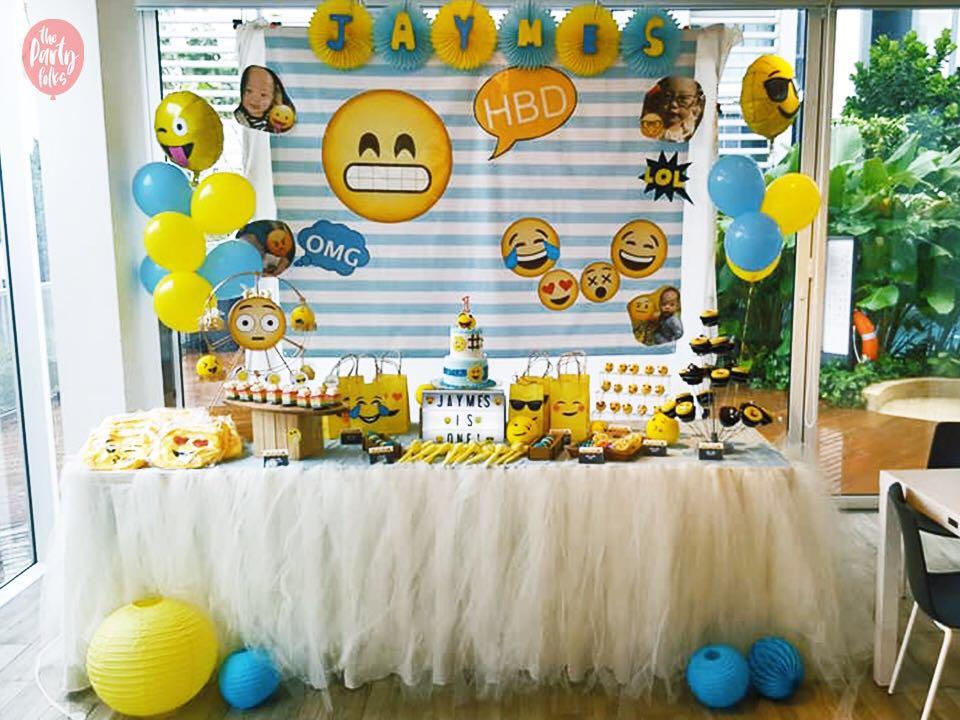 Emoji Themed Birthday Party Full Month 100 Day Baby Shower